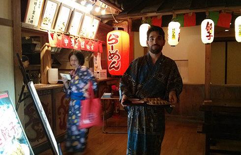 Cenita tras el relax en el Oedo Onsen Monogatari